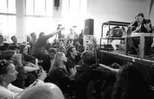 18.5.2012. David Graeber en el Campus Verlag, Frankurt-Main. Foto: Tine Nowak.